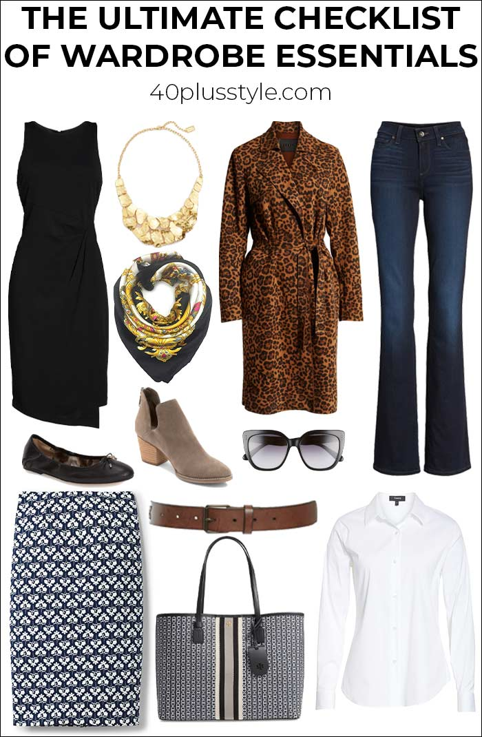 The ultimate checklist of wardrobe essentials | fashion over 40 | style | fashion | 40plusstyle.com