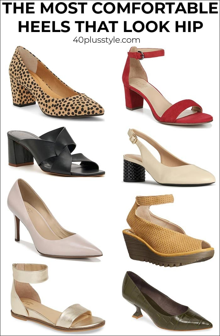 The most comfortable heels for women over 40 | 40plusstyle.com