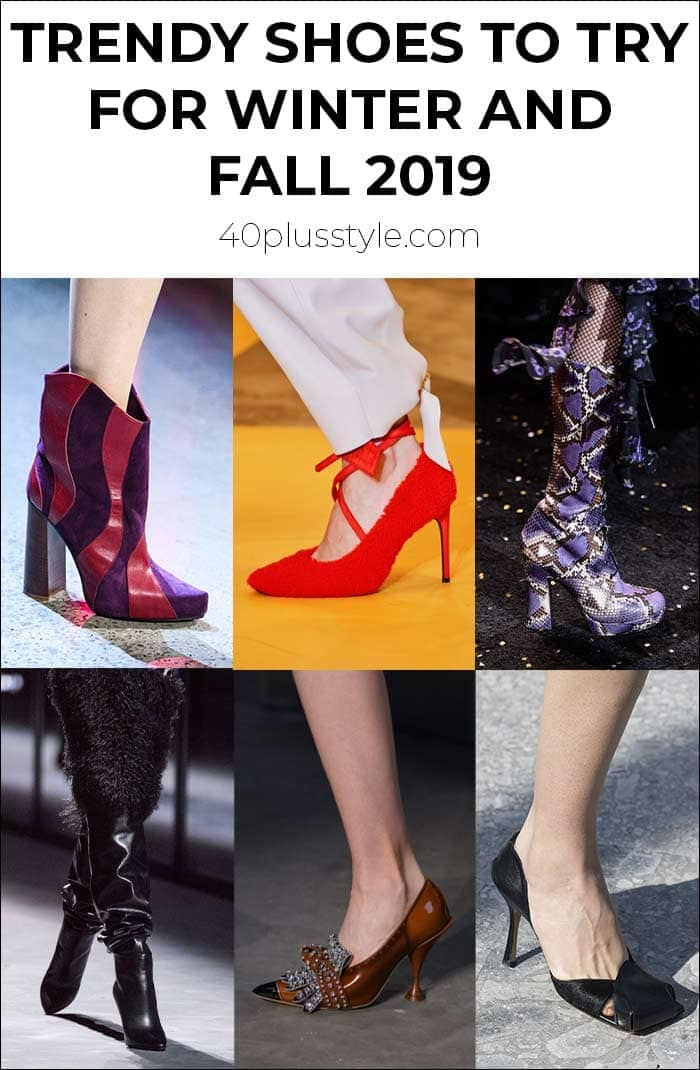 Trendy shoes to try for winter and fall 2019 | 40plusstyle.com