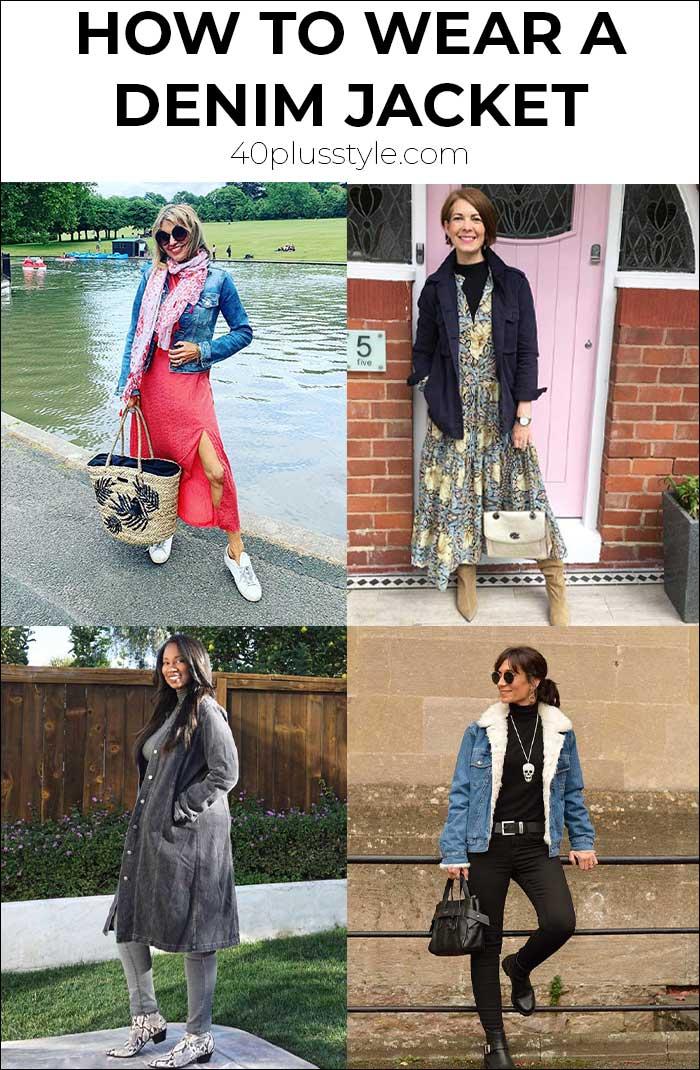 How to wear a denim jacket   40plusstyle.com
