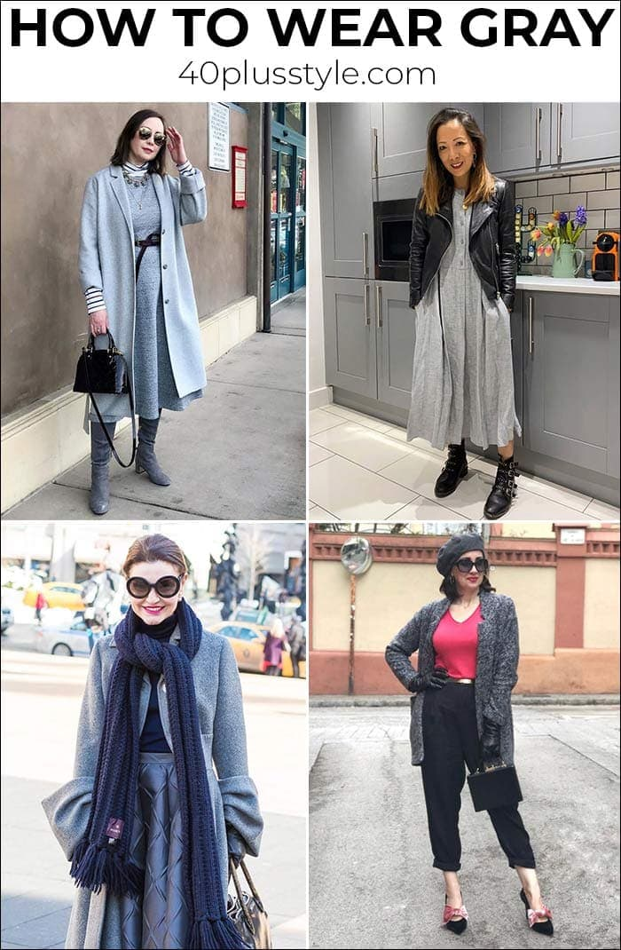 How to wear gray: Color palettes and ensembles for you to choose from | 40plusstyle.com