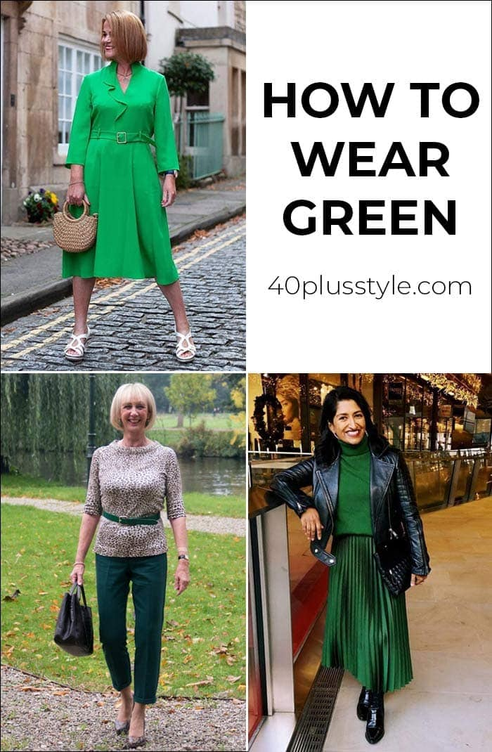 How to wear green: Which of these color palettes and outfits is your favorite? | 40plusstyle.com