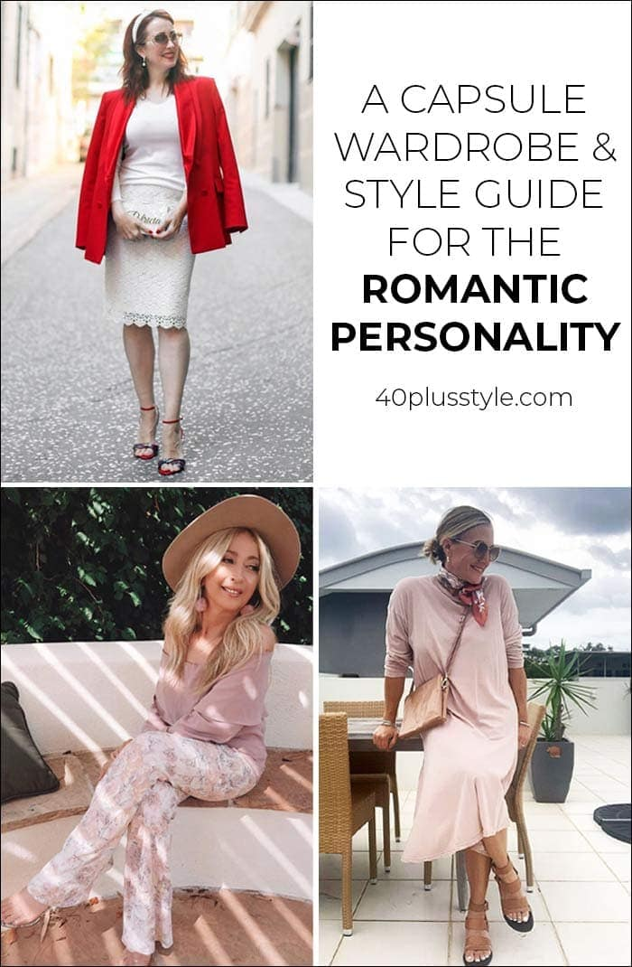 A capsule wardrobe and style guide for the romantic style personality | 40plusstyle.com
