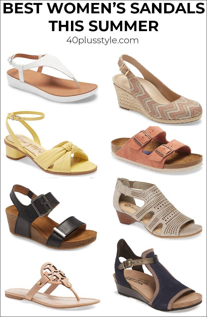 Best women's sandals this summer | 40plusstyle.com
