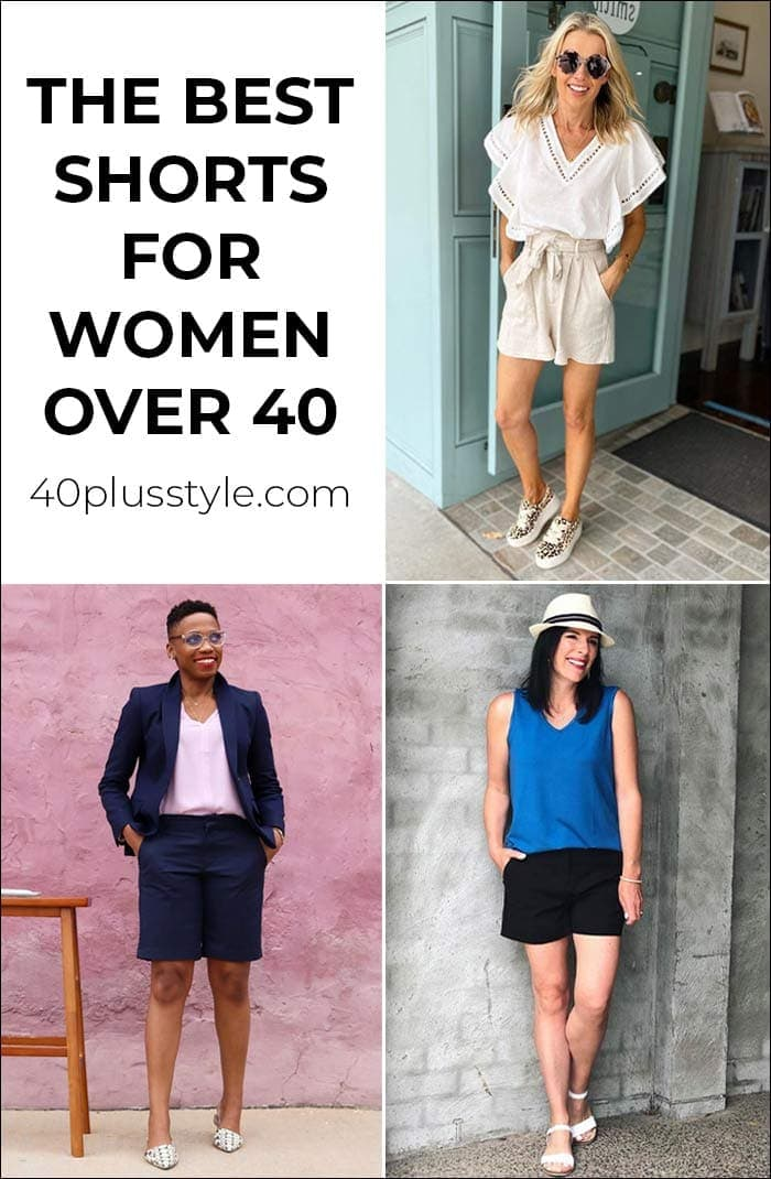 Shorts that fit and flatter women over 40 of any shape | 40plusstyle.com