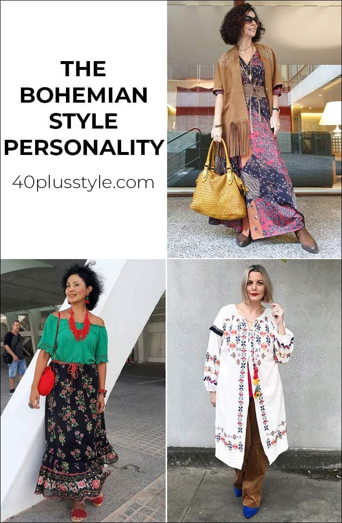 A style guide and capsule wardrobe for the BOHEMIAN style personality | 40plusstyle.com