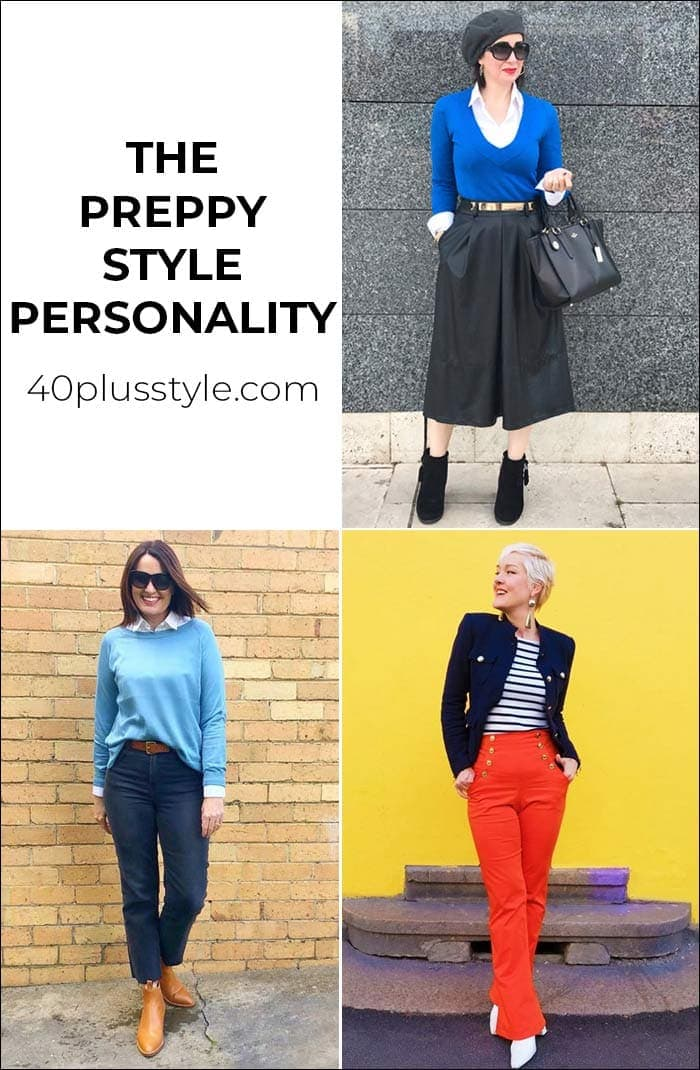 A style guide and capsule wardrobe for the PREPPY style personality | 40plusstyle.com