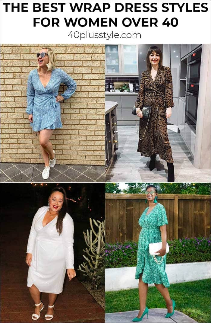 The best wrap dress styles for women over 40 | 40plusstyle.com