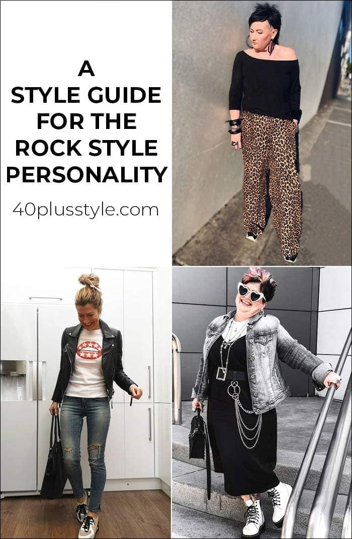 a capsule wardrobe and style guide for the ROCK style personality | 40plusstyle.com