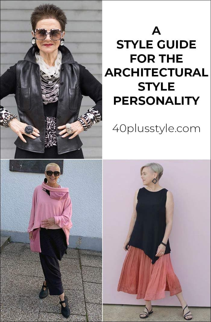 A capsule wardrobe and style guide for the ARCHITECTURAL style personality | 40plusstyle.com