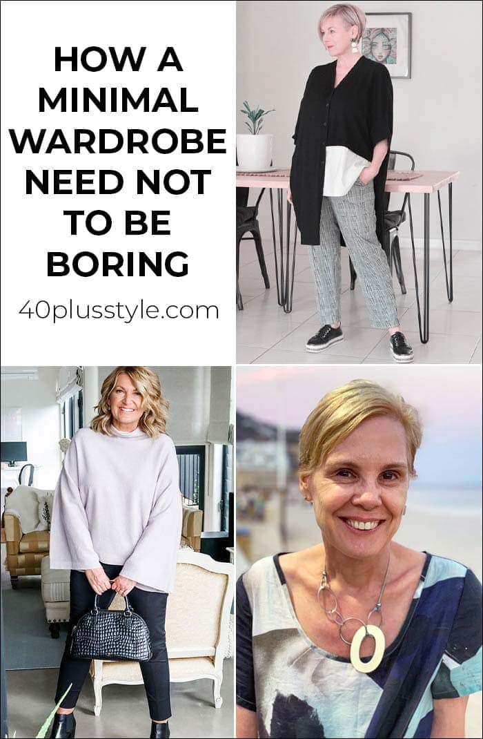 How a minimal wardrobe need not be boring   40plusstyle.com