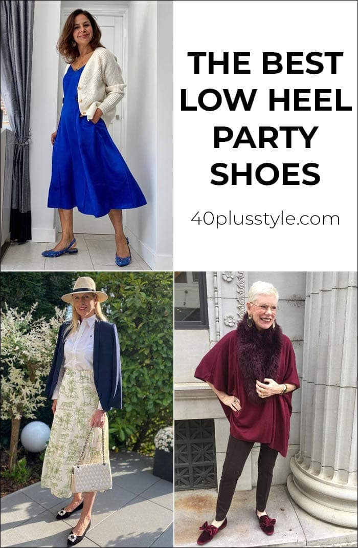 The best low heel party shoes that look even better than stilettos   40[plusstyle.com