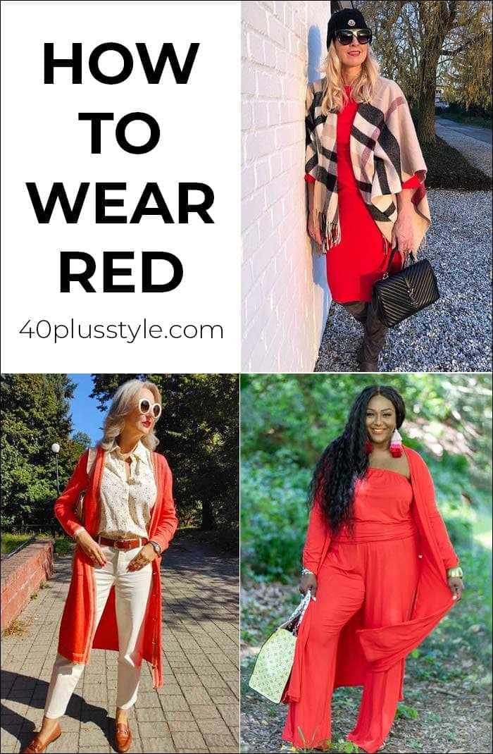 How to wear red - your comprehensive guide to wearing the color of love! | 40plusstyle.com