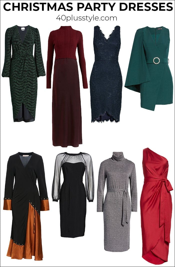 Stunning Christmas party dresses for every budget: From casual chic to super glam | 40plusstyle.com
