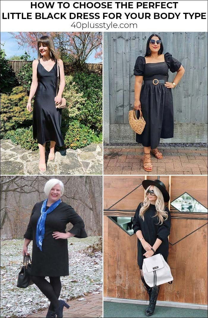 How to choose the perfect little black dress for your body type | 40plusstyle.com