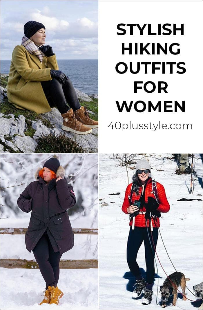 Stylish hiking outfits for women to keep you comfy on a casual stroll or long trek   40plusstyle.com
