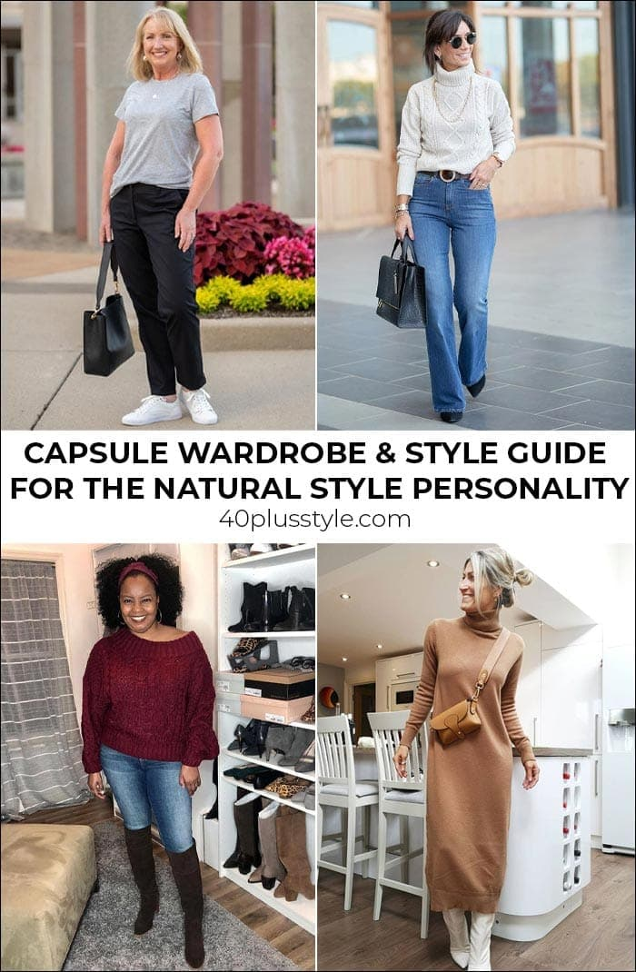 A capsule wardrobe and style guide for the natural style personality | 40plusstyle.com