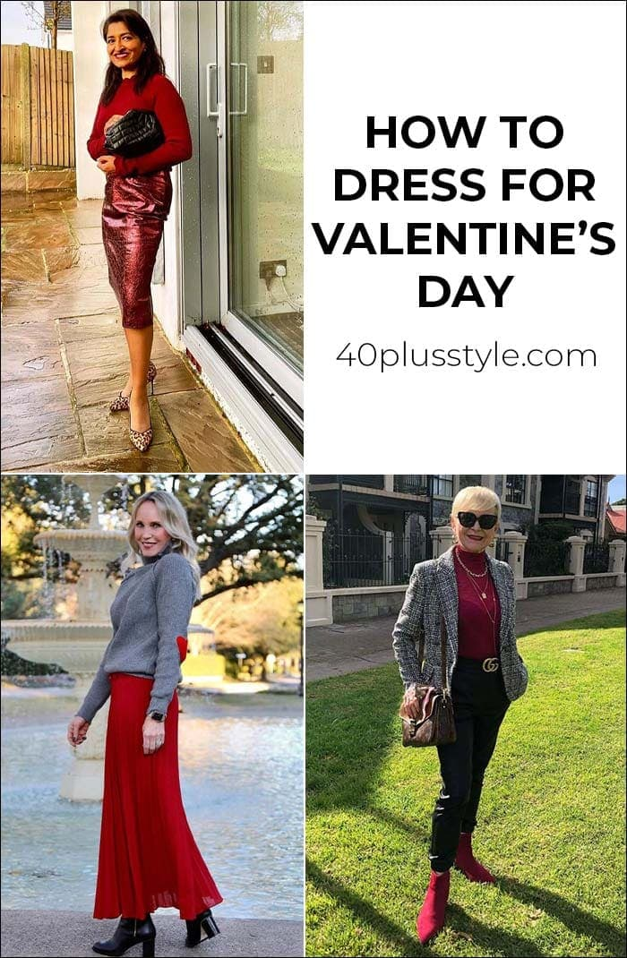 how to dress for Valentine's day | 40plusstyle.com