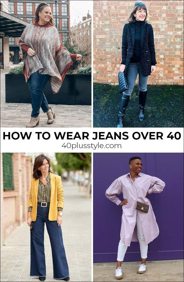 How to wear jeans over 40 | 40plusstyle.com