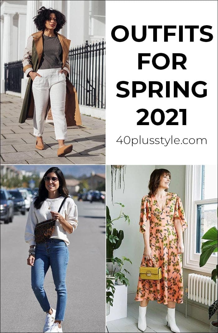 Outfits for Spring 2021 - This season's trends together in one capsule wardrobe | 40plusstyle.com