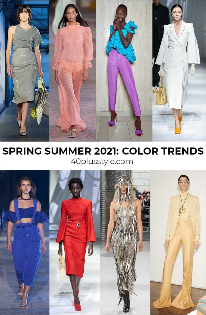 Fashion color trends 2021 - the best colors and neutrals to wear for spring and summer | 40plusstyle.com