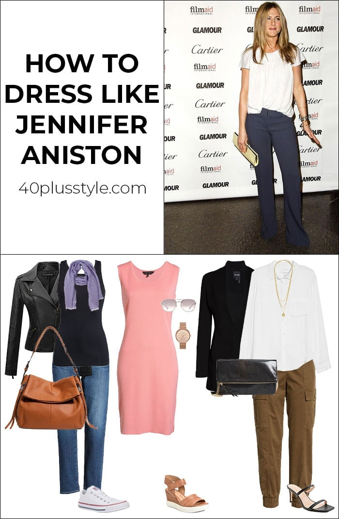 How to dress like Jennifer Aniston | 40plusstyle.com