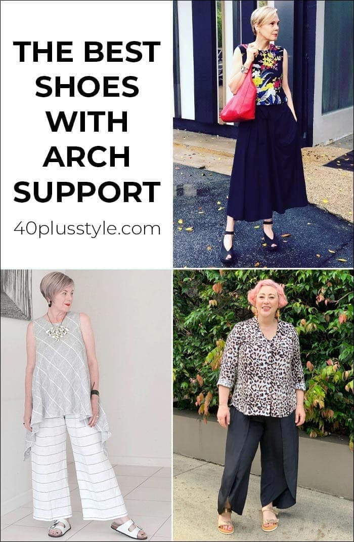 Best shoes with arch support - comfortable walking shoes to walk in all day | 40plusstyle.com
