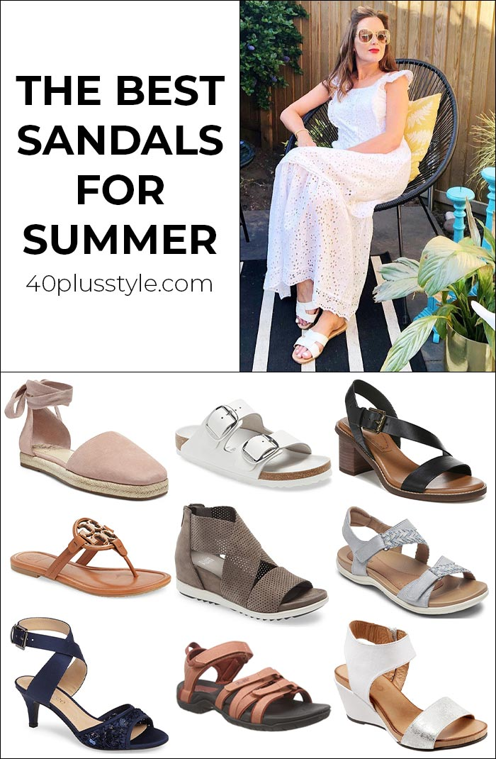 The best women's sandals this summer | 40plusstyle.com