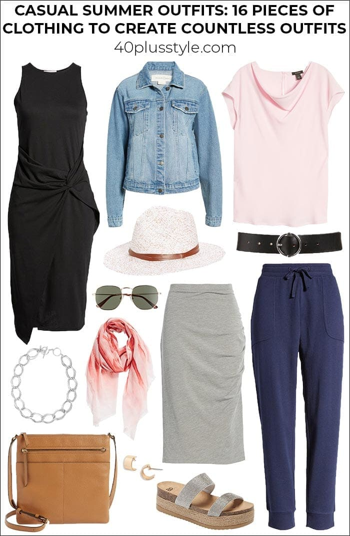Casual summer outfits: 16 pieces of clothing to create countless outfits   40plusstyle.com