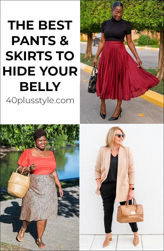 The best pants and skirts to hide your belly   40plusstyle.com
