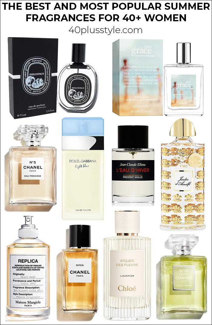 The best and most popular summer fragrances for 40+ women | 40plusstyle.com