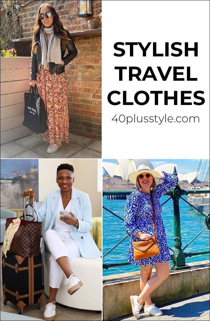 Stylish travel clothes for women over 40 | 40plusstyle.com