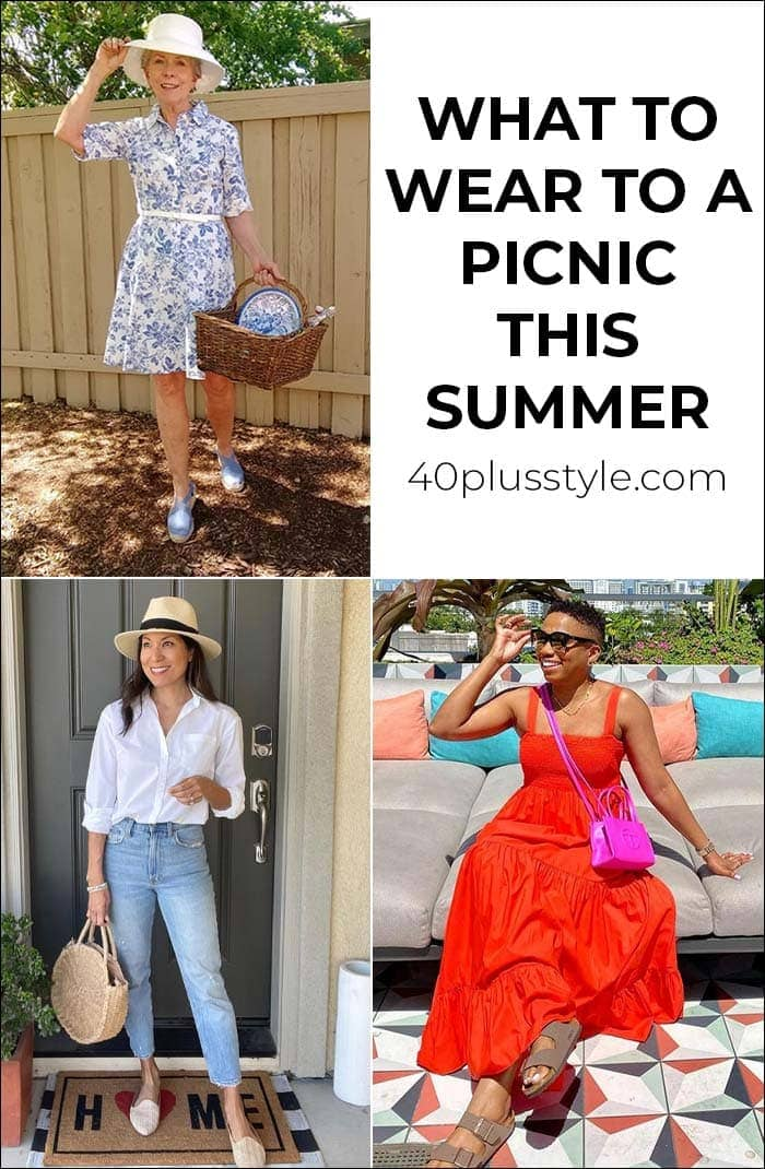 What to wear to a picnic this summer with the best picnic outfits to choose from | 40plusstyle.com