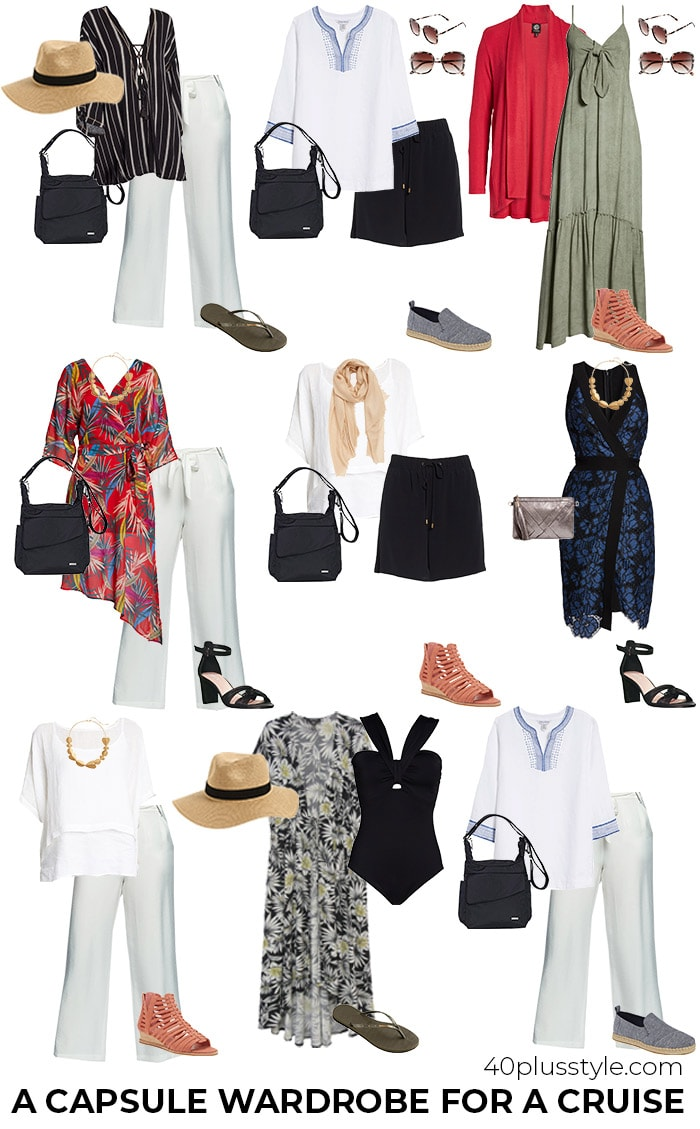 Cruise Clothing Essentials: What to Pack for a Cruise Capsule | 40plusstyle.com