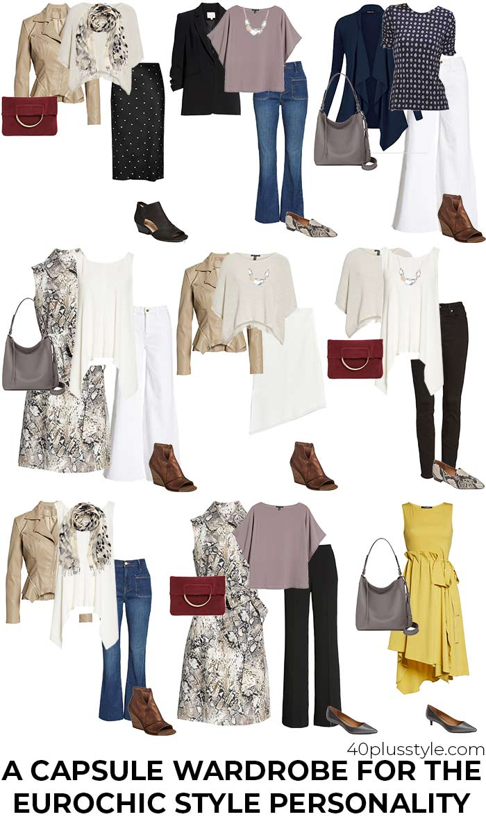 A capsule wardrobe for the eurochic style personality | 40plusstyle.com