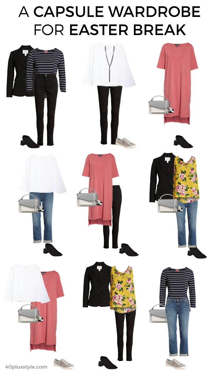 capsule wardrobe for Easter break | 40plusstyle.com