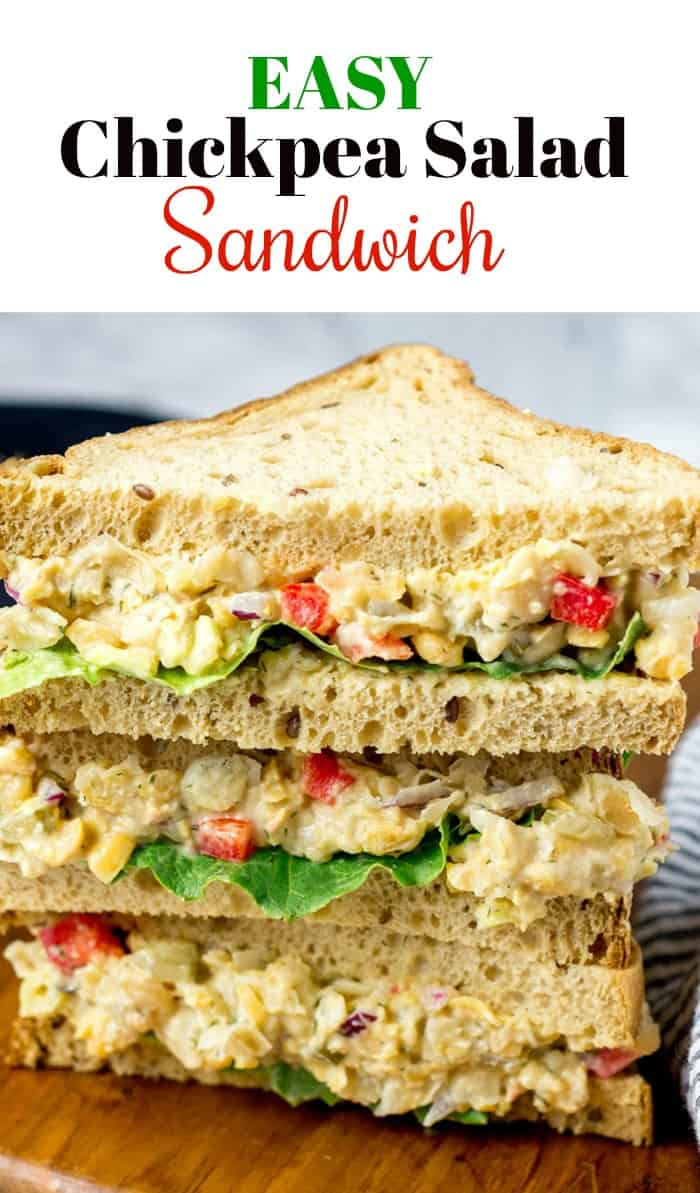 Easy Chickpea Salad Sandwich Pin