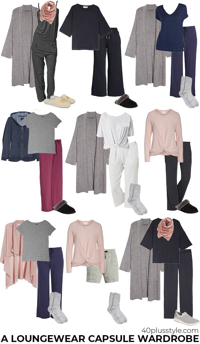 A loungewear capsule wardrobe | 40plusstyle.com