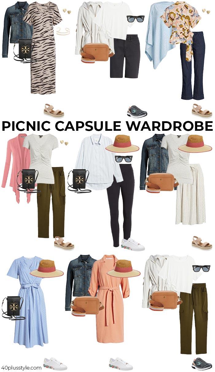 Picnic capsule wardrobe | 40plusstyle.com