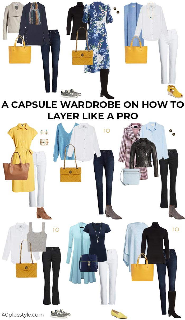 A capsule wardrobe on how to layer like a pro | 40plusstyle.com