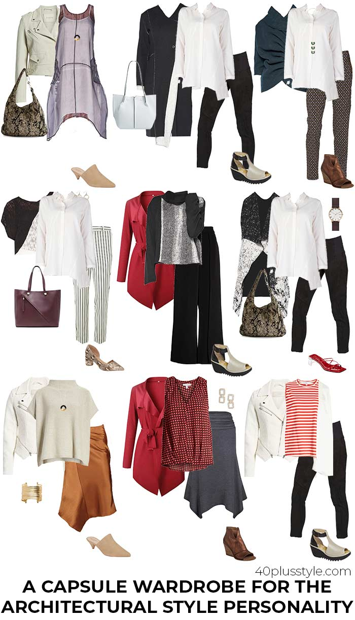 A past season capsule wardrobe for the architectural style personality | 40plusstyle.com