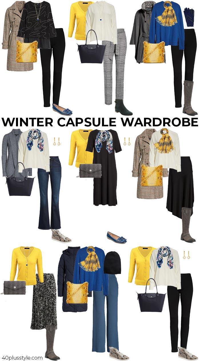A winter capsule wardrobe | 40plusstyle.com