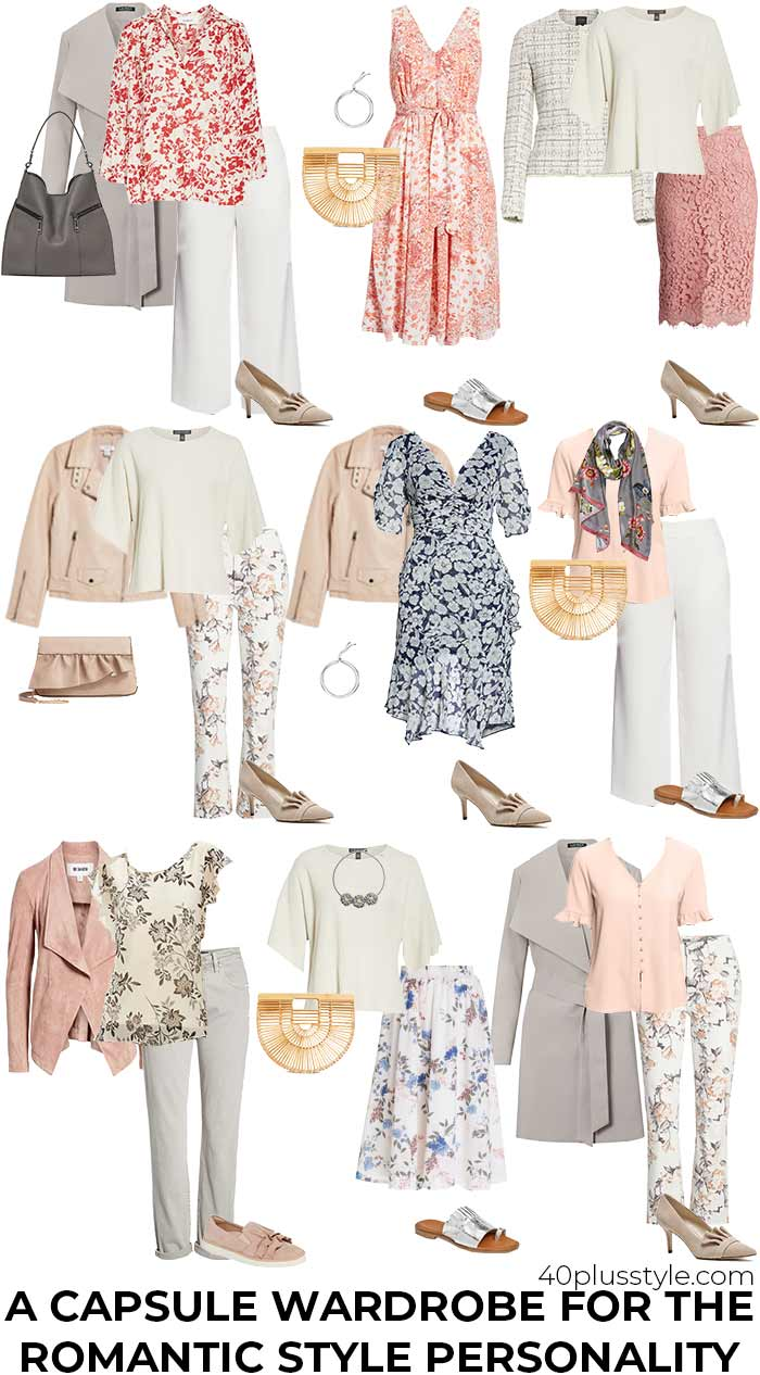 a capsule wardrobe for the romantic style personality | 40plusstyle.com