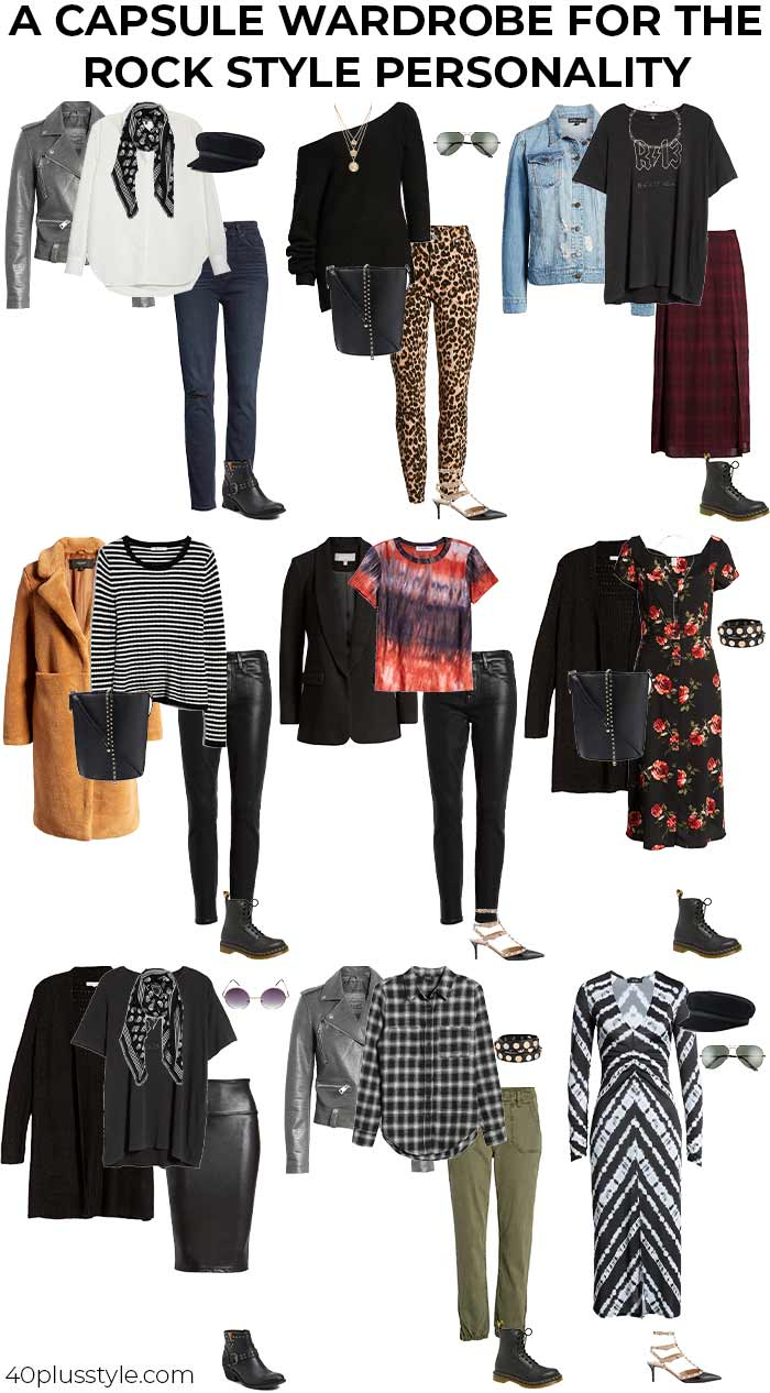 A capsule wardrobe for the ROCK style personality | 40plusstyle.com