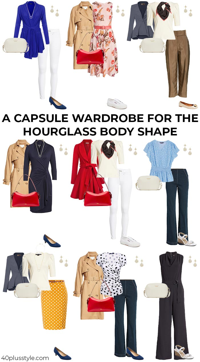 A capsule wardrobe for the hourglass body shape | 40plusstyle.com