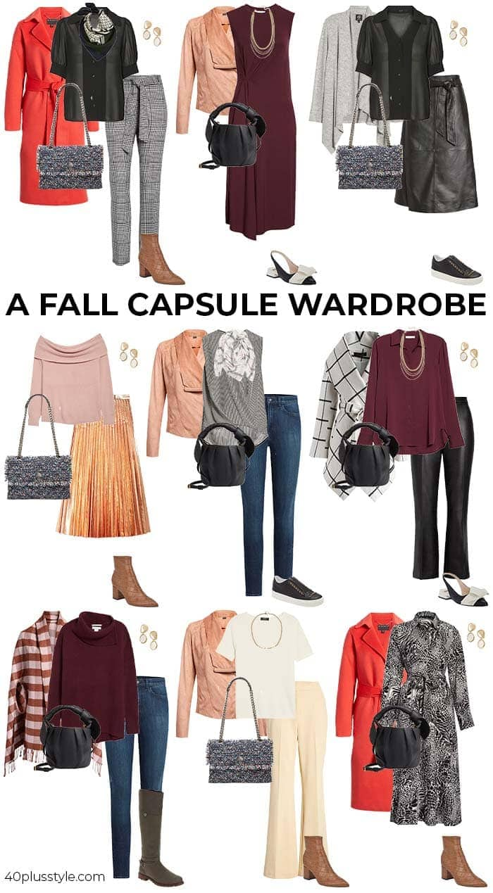 A Fall capsule wardrobe | 40plusstyle.com