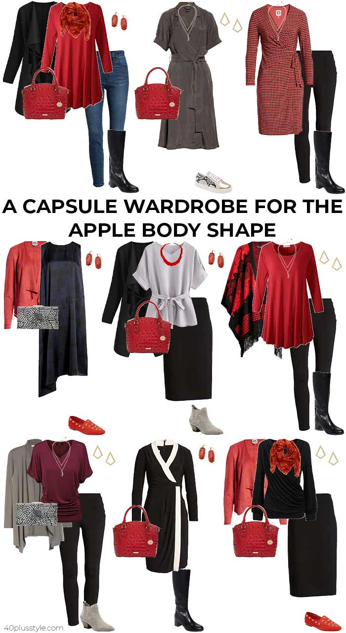 A capsule wardrobe for the apple body shape - fall/winter | 40plusstyle.com