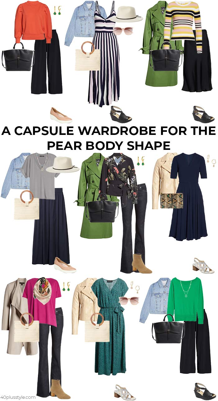 A capsule wardrobe for the pear shaped body | 40plusstyle.com