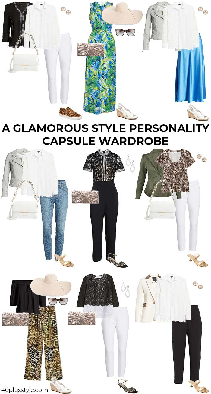 A capsule wardrobe for the GLAM style personality | 40plusstyle.com