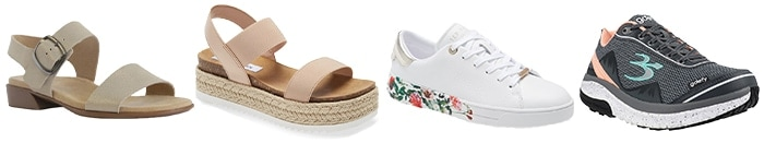 Sneakers and sandals to wear to a picnic | 40plusstyle.com
